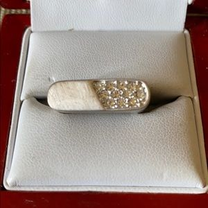 Sterling silver and CZ stone ring
